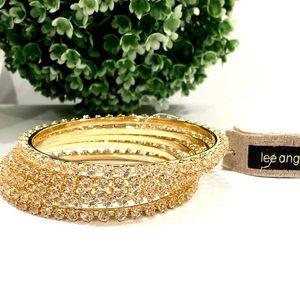 LEE ANGEL for NEIMAN MARCUS crystal bangle set NWT